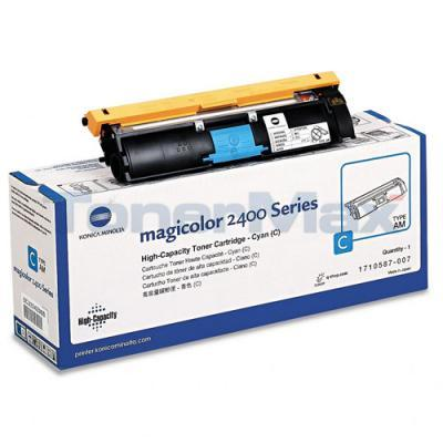 QMS MAGICOLOR 2400 TONER CYAN HY